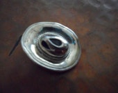 Silver Plated Cowboy Hat Pendant