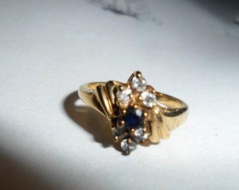 14 KT Gold  Electroplated Vintage Ring