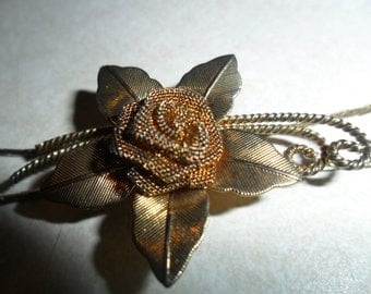Mesh Rose Vintage  Lariat Necklace