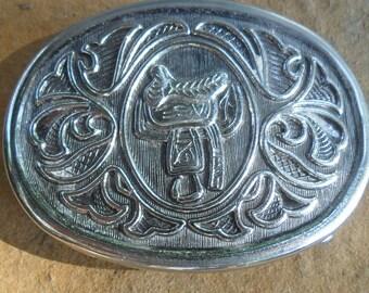 Vintage Avon Silver Belt Buckle