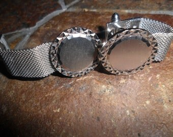 Cuff Links Vintage Mesh