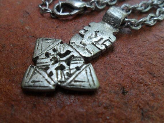 Ethiopian Coptic Silver Cross Necklace