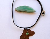 Pit bull copper silhouette necklace