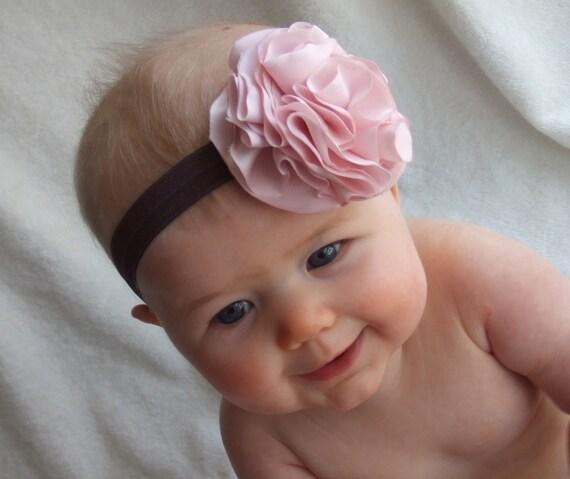 Pink Peony Baby headband