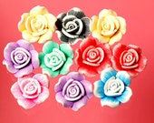 10 - 23MM x 13MM Flower Spacer Bead Flexible Fimo Polymer Clay Cabochons