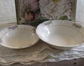 Ivory White Sebring Porcelain Bowls-Normandie - Set of 2 - MOVING SALE