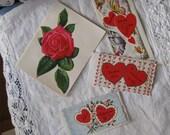 Four Vintage Retro Valentines (Set Number 4)