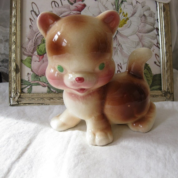 Vintage Rempel Cat  - RARE - Diamond Pottery