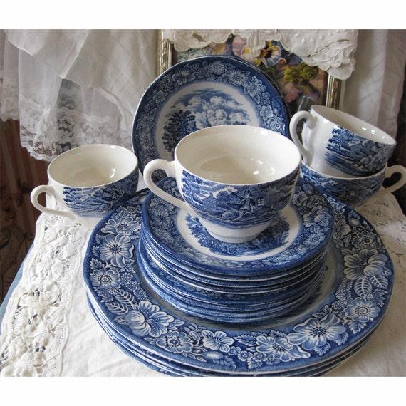 On Sale - Bicentennial Liberty Blue Dinnerware