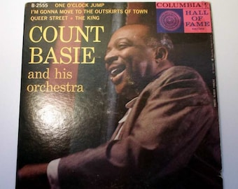 Vintage Record Count Basie  One O'Clock Jump 45 rpm  and Pic Cover B-2555