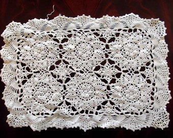 Vintage Country Charm Crochet Lace Doilys Lot of 3 Rectangular