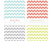 "Custom Color & Text 8"" x 10"" Print - ""A Date with Chevron"""