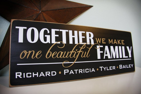 Custom Blended Family Sign- personalized with names- great for any large or blended families