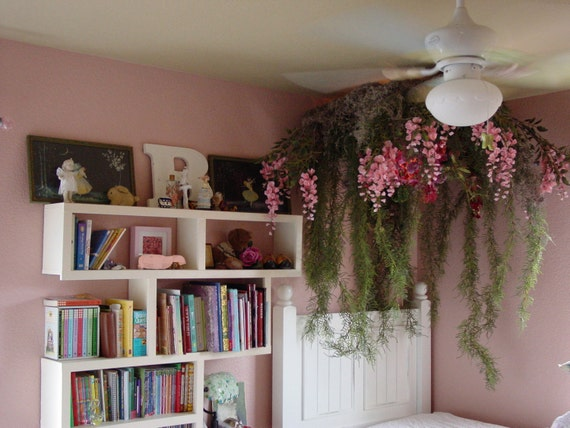Items similar to canopy fairy forest for girls bedroom on etsy - Stuff for girls rooms ...