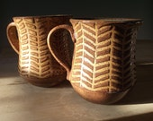 Honey Brown Herringbone Mug