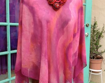 Pointed Poncho Pre-Sewn Dye-Ready Silk Garment Kit
