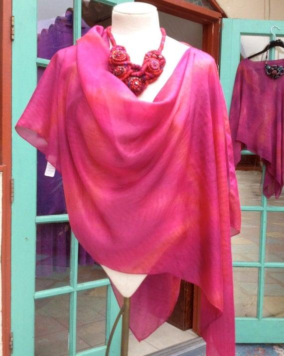 Stole/Cowl Pre-Sewn Dye-Ready Silk Garment Kit