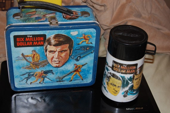 1974 Six Million Dollar Man Lunchbox and Thermos