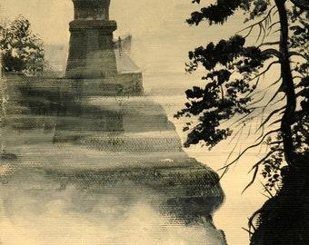 Split Rock Lighthouse Print  Lake Superior