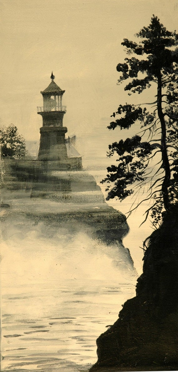 Split Rock Lighthouse Print  Lake Superior