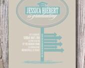 Custom Graduation Invitation - Jessica Is Graduating - Digital File