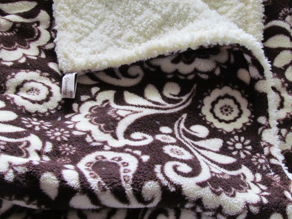"""Summer sale- Minky baby blanket, large stroller size or toddler size - 30"""" x 36"""". Quality comfy minky."""