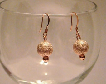 Rose Gold Plated and Copper Earrings