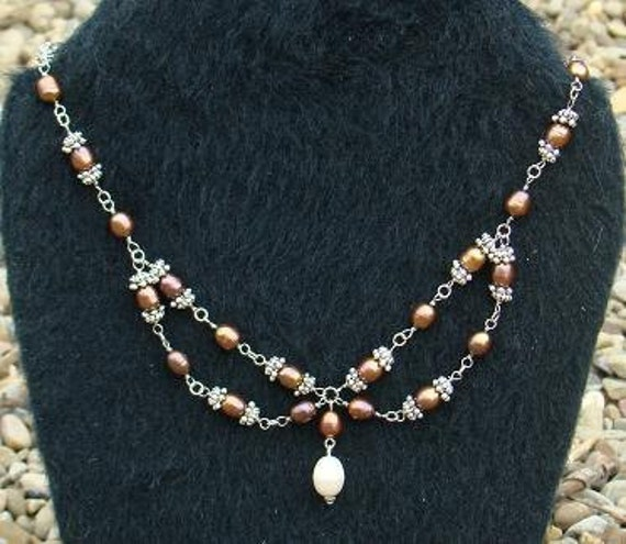 Sale 25 % off Chocolate Freshwater Pearl Necklace
