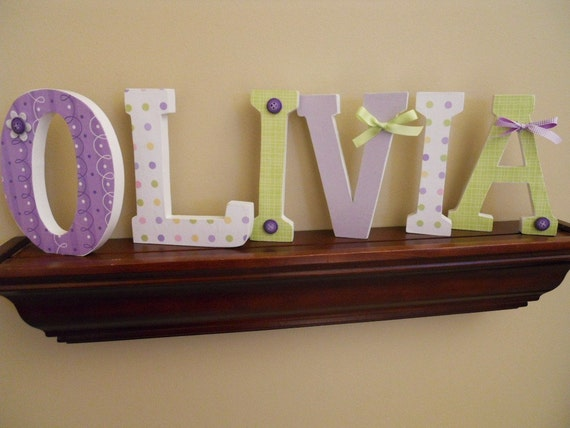 custom wooden letters nursery kids rooms six inch