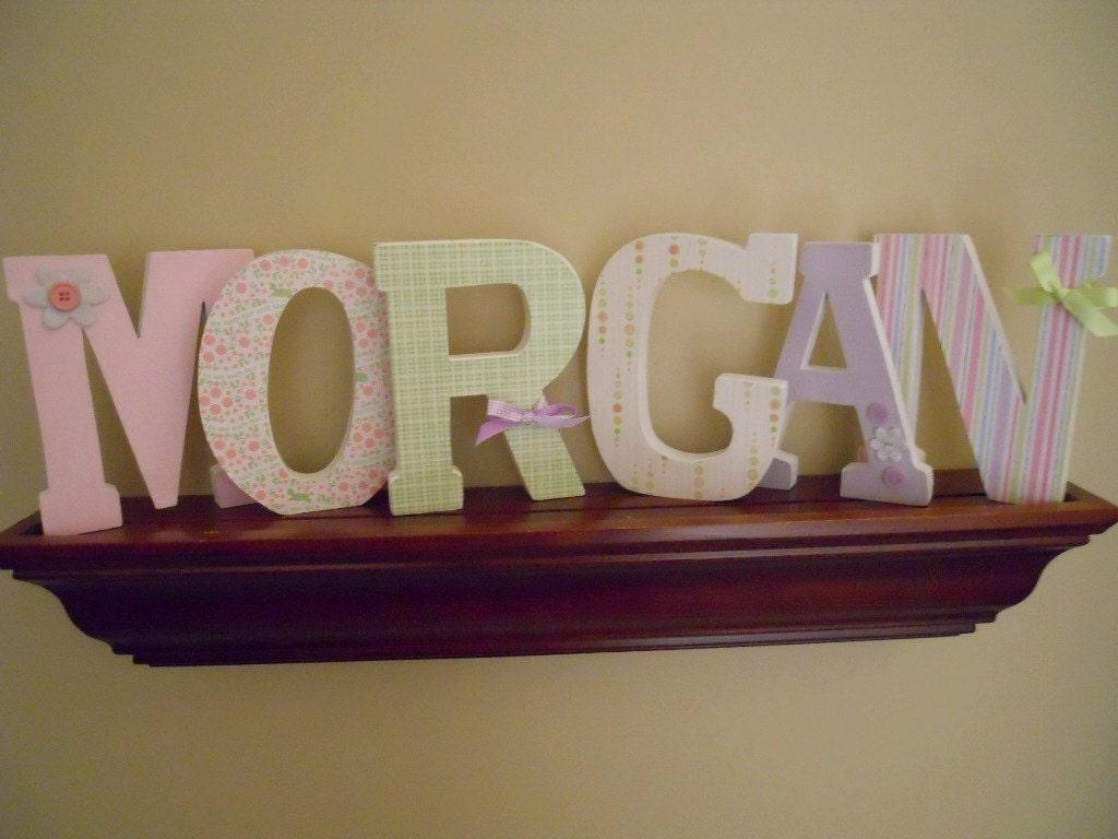 6 Custom Wooden Letters Nursery Kids Rooms By BugsNButterflies