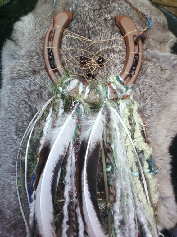 beautiful horseshoe dreamcatcher reserved for amy