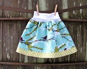 girls skirt - sophie's yoga-top - sparrows in plum & polka dot