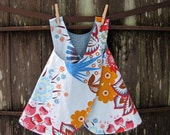 girls top / dress - piper jane's reversible pinafore size 18 - 24 mo, 2T, 3T, 4T or 5T - summer totem & xo