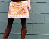 women's yoga-top skirt - beyond bliss in ginger - sizes xs - xl