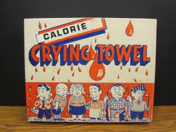 Vintage Towel Gag Gift - Calorie Counting Towel - Free U.S.Shipping