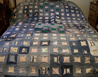 Recycled Denim Jeans Blanket Quilt
