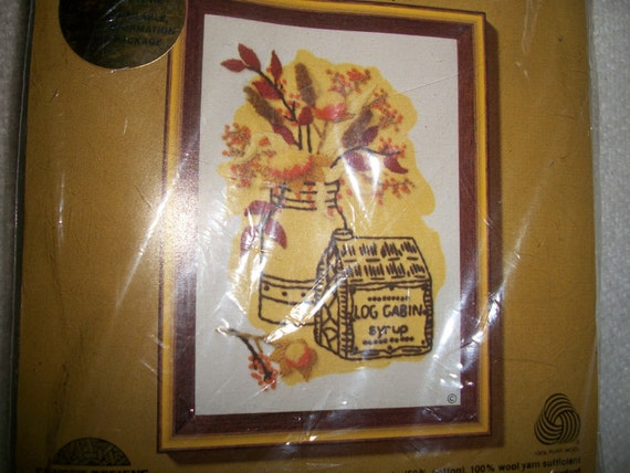 Syrup Antique Tin~Crewel Embroidery Kit: Comes With Yarn, Fabric, Needle, Directions & Mounting Board
