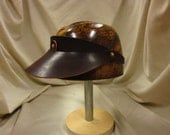 Riveted Leather Visor/ Free Shipping