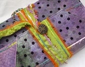 Handmade Journal Remains of the Day - Purple