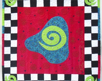 Contemporary Art Quilt - Wild Play IV
