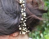 A Fine Romance- Pearl Bead Bridal Hair Vine