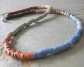 Multi Color Heishi Bead Choker Necklace