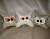 Custom Order for Amanda - Owl Trio