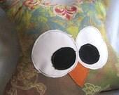 Aubrey Owl Pillow - One of a Kind