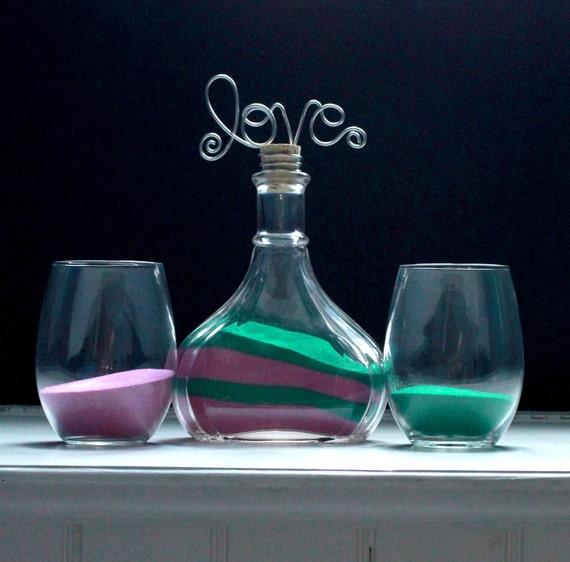 Blooming Love Wedding Sand Unity Ceremony Vase Set