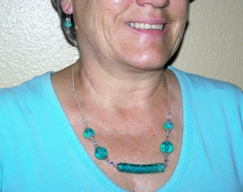 Turquoise Waters Necklace and Earring set