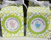 Wedding or Shower Favors Personalized, Spring Floral Print