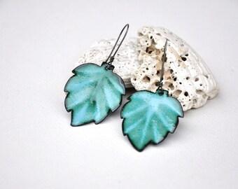 Clematis Leaf Earrings
