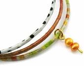 Sale- Buy 2 get 1 for free: Orange and Lime Green Stacking Bangles, Bangle Bracelets