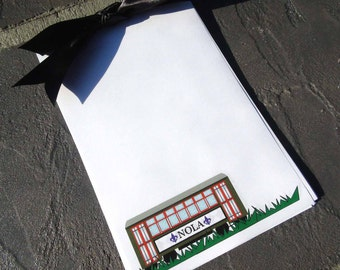 New Orleans Streetcar Personalized Notepad